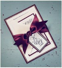 Matching Envelopes Personalised Wedding Invitations Red Daisy F022