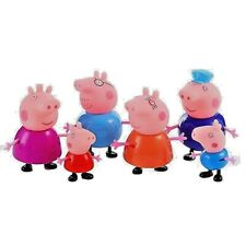 HOT Peppa pig 6pcs action figures Dolls Family & GEORGE KID TOYS