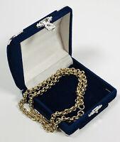 Vintage Necklace Gold Tone Collar Length Chain Pretty Retro Costume Jewellery