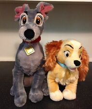 Disney Store Lady and the Tramp Stuffed Plush LADY & TRAMP - Dog Cocker Spaniel