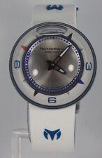 TechnoMarine Men Doom AquaSphere Fire Blue White Blue Silicone Silver Dial Watch