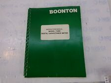 Booton 72Bd Digital capacitance meter instruction manual P/N 983010-001