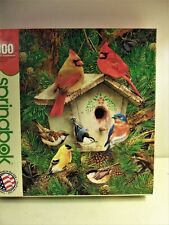 "Vintage SPRINGBOK Bird House, Birds  puzzle 1000pc 30""x24"""