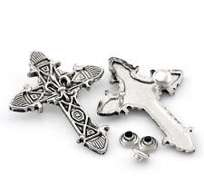 10Set Antik Silber Kreuz Nieten Ziernieten Schmucknieten 5x3.7cm 7x3.5mm