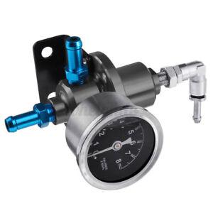Universal Adjustable Car Fuel Pressure Regulator W/KPa Oil Gauge Kit 0-16PSI US