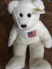 "Ty Beanie Buddy Liberty Bear 14"" Introduced 6/15/96 Retired 1/01/97"