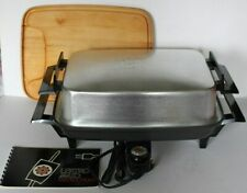 Vtg West Bend MIRACLE LEKTRO MAID Electric SKILLET w/ Cutting Board EXCELLENT!!