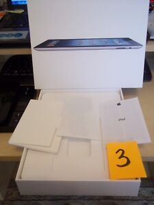 2012 APPLE IPAD WI FI 64GB BOX ONLY NO TABLET MODEL A416 INTERIOR PACKAGING **