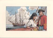 GRAVURE ILLUSTRATION BD - Illustrateur non identifié - Pirates Bateau