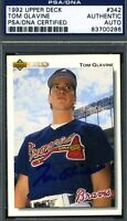 Tom Glavine Psa/dna Authenticated Signed 1992 Upper Deck Autograph