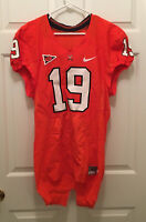 Virginia UVA Cavaliers Michael Strauss Football Game Worn Orange Jersey Size 40
