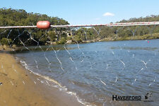 "Fishing Gill / Mesh Net - 23m x 2.5m - Ready to Fish 1.5"" x 1.5""  Floats & Leads"