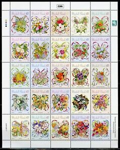 MARSHALL ISLANDS  FLOWERS BOUQUETS OF THE COMMONWEALTH  MINIATURE SHEET MINT NH