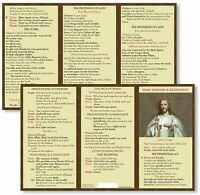 Catholic Mass Prayer And Responses Pocket Card Penitential Act Our Father