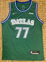 NEW #77 Luka Doncic Dallas Mavericks Men's 2021 Green Stitched Swingman Jersey