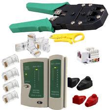 Network LAN Kit Cat5e Cat6 RJ45 RJ11 Cable Tester Cutter Crimper Crimping Tool