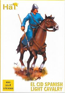 HäT/HaT Middle Ages El Cid Spanish Light Cavalry 1/72 Scale 25mm
