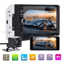 "7"" Car Stereo MP5 Player HD Touchscreen Radio In Dash Audio USB TF 2DIN + Camera"
