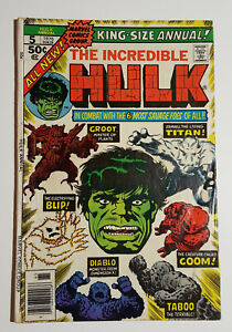 The INCREDIBLE HULK King-Size Annual #5 2nd Appearance of GROOT Marvel 1976