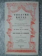 1952 Theatre Programme- She Stoops to Conquer- Oliver Goldsmith
