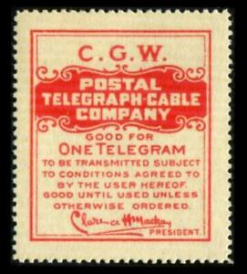 15TO8 TELEGRAPH 1 Dull Red POSTAL TELEGRAPH-CABLE COMPANY MNH SEE PHOTOS K-560