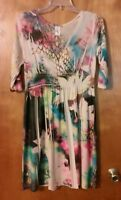 Body Central dress large multi-color