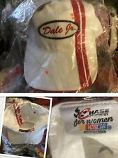 vtg nwt DALE JR #8 Budweiser RED WHITE NASCAR CHASE for Woman HAT Cap deadstock