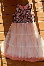 Girls PINKY 16 leopard print glitter sleeveless dress Beautiful sheer