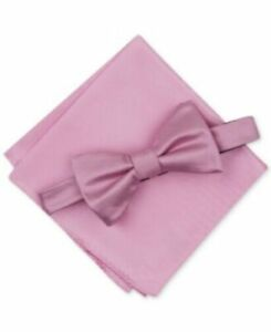Alfani  Solid Textured Pre-Tied Bow Tie & Solid Textured Pocket Square Set, $55
