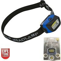 Headlight COB LED Ultra Bright Head Torch Mechanics Camping Fishing Flashlight