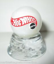 HOT WHEELS CARS LOGO ON COLLECTOR MARBLE