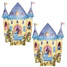 Set of 2 Disney Princess Castle Super Shape Foil Balloons - Party Decorations
