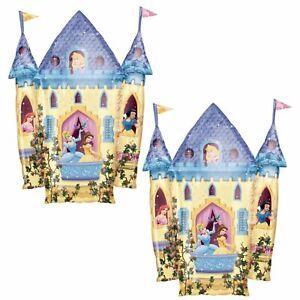 Set of 2 Disney Princess Castle Super Shape Foil Balloons - Party Decorations