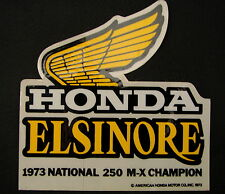 Original Honda Elsinor Adhesivo 1973 campeón nacional 250 M-X