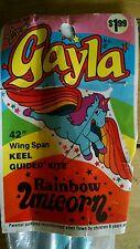 """Vintage 1987 GAYLA Kite Kit RAINBOW UNICORN 42"""" Wing Span New in Package"""