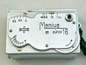 MAMIYA SUPER 16 OCCUPIED JAPAN SPY CAMERA W/ORIGINAL LEATHER CASE, 1930's RARE