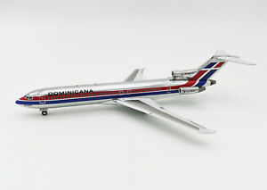 1:200 INF200 Dominicana Boeing 727-200 HI-242-CT POLISHED W/Stand