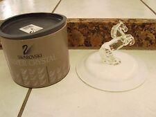 "Swarovski 4 1/4"" Silver Crystal White Horse Stallion Figurine # 7612"