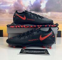 Nike Phantom GT Elite FG Soccer Cleats Black Chile Red CK8439-060 Men's Sizes