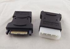 10x 4 Pin Molex PC IDE Male To 15Pin SATA Male Power Adapter Convertor Connector