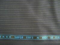 "3.83 yds Holland Sherry Wool Super 130s Fabric Drago 9 oz Suiting Navy 138"" BTP"