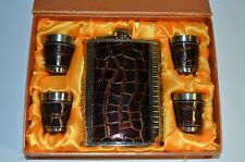 Hip Flask Set 4 Shot Cups and Funnel