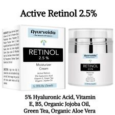 Retinol 2.5% Face Cream-Serum-Day and Night Cream-Anti Ageing- 5%Hyaluronic Acid