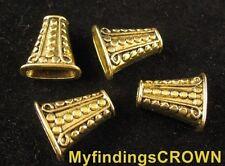 20 pcs Antiqued gold ornate bugle bead caps FC1281