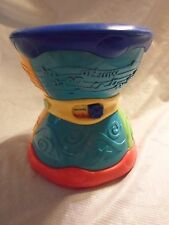 "LeapFrog Leap Frog Learn & Groove Alphabet Drum  Musical Toy 6.5"" Bi Lingual"