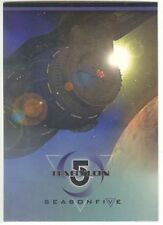 Babylon 5 Season 5 Complete 81 EMBOSSED Card Set