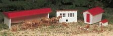 Bachmann Ho Scale 45152 Plasticville Usa Farm Buildings With Animals Kit New