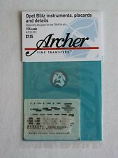 Archer 1/35 Opel Blitz Instruments, Placards and Details (for Tamiya) AR35291