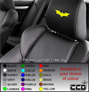 BATMAN CAR SEAT / HEADREST DECALS - LOGO BADGE - Vinyl Stickers - Graphics X5