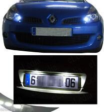 CLIO 3 P1 4 ampoules LED Blanc Eclairage plaque + Veilleuses  Anti erreur ODB